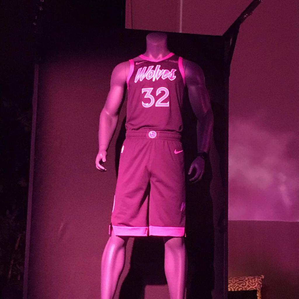 f132b047a Timberwolves unveil Prince-inspired uniforms  will debut against Trail  Blazers Nov. 16 - Minneapolis   St. Paul Business Journal