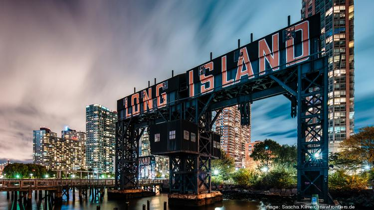 Long Island City Gantry Plaza Park In Queens New York