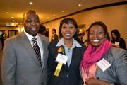 Honoree Lora Antoine, center, with her guests at the 2013 Minority Business Leader Awards.