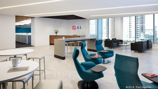 Cool Digs: Explore JLL's studio-style Pratt Street office - Baltimore Business Journal