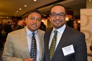 LaFonte Nesbitt, left, a partner at Holland & Knight, and Alex Walker from MassMutual Greater Washington at the 2013 Minority Business Leader Awards.