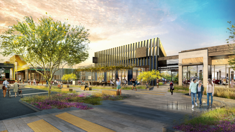 A rendering of M-K-T, a mixed-use development that Radom Capital and Triten Real Estate Partners are developing.