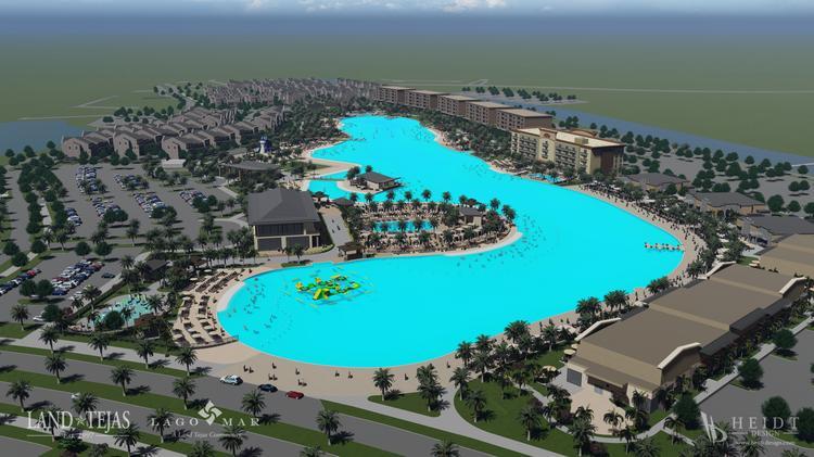 Land Tejas Cos  Crystal Lagoon in Texas City breaks ground