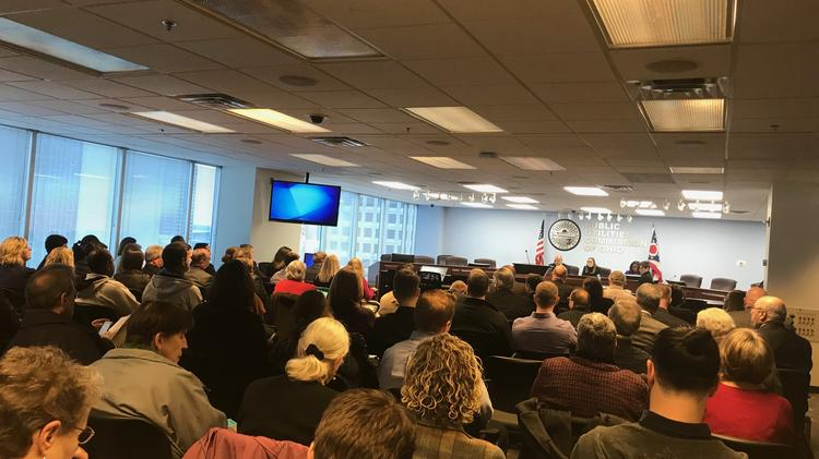 In a standing-room-only PUCO meeting, economic development leaders said the project could see economic investment in a part of the state that was just this year racked by the closure of two coal-fired power plants.