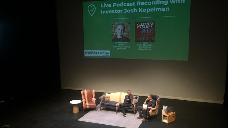 a5700dad722e9 4 highlights from Josh Kopelman s live podcast conversation with Philly Who