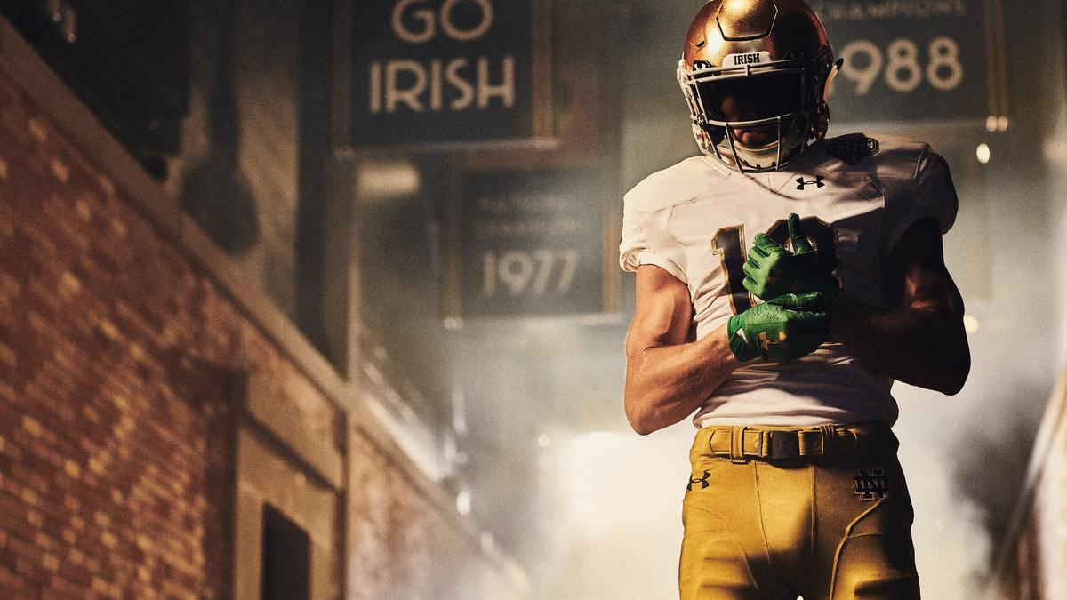 f9a17a393 Under Armour pays homage to Notre Dame s legacy with College Football  Playoff uniforms (PHOTOS)