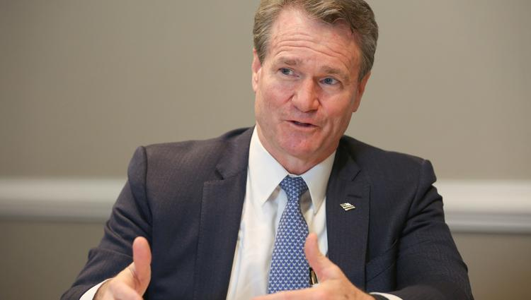 Brian Moynihan is the CEO of Bank of America