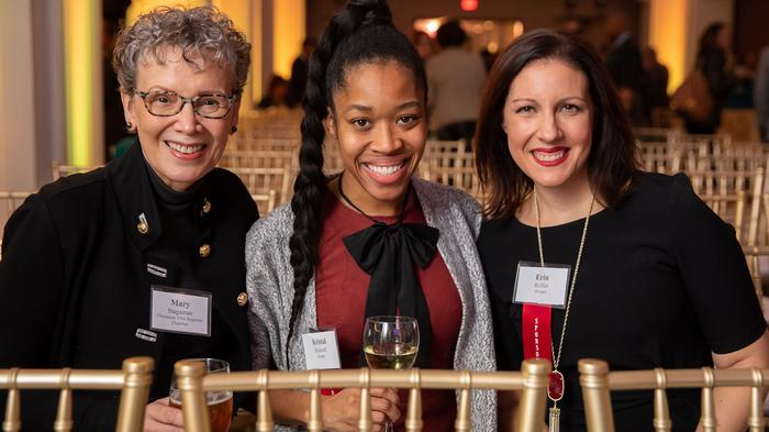 From left: Mary Stagaman of Cincinnati USA Regional Chamber, Kristal Howard and Erin Rolfes, both of Kroger Co.