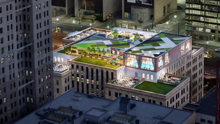 The Rooftop Restaurant And Bar Will Be Located At Southeast Corner Of City Club Apartments