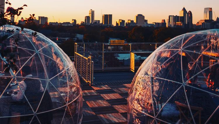 Atlanta Restaurants Roll Out Heated Igloos For Outdoor