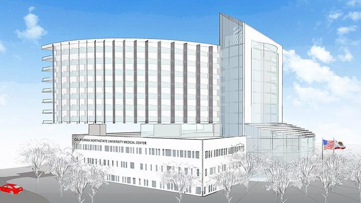 California Northstate University building Elk Grove hospital