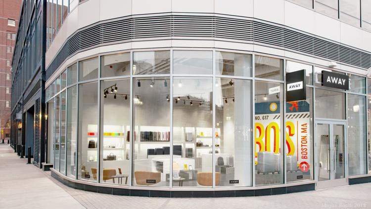 d3f5cf31bc8 Luggage startup Away has opened a storefront at 50 Seaport Blvd. in Boston.