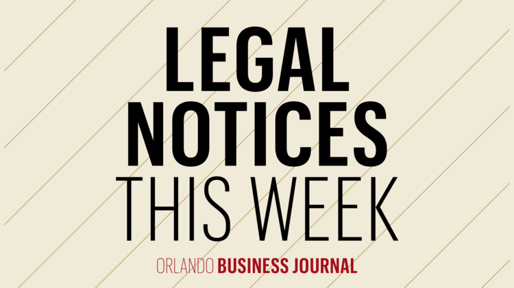 Legal notices starting in the April 5, 2019 issue - Orlando