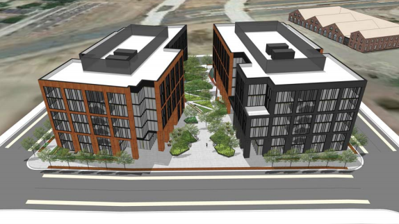 Plans show new details for Railyards office buildings
