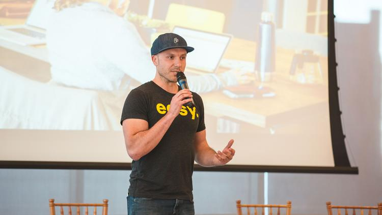 Garrett Tichy is the founder and owner of Hygge Coworking.