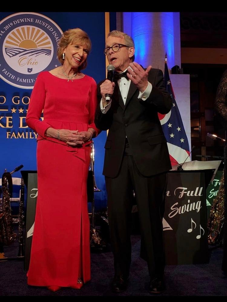 First Lady Dewine Wears Oakwood Designer Dress To Inaugural Gala Dayton Business Journal