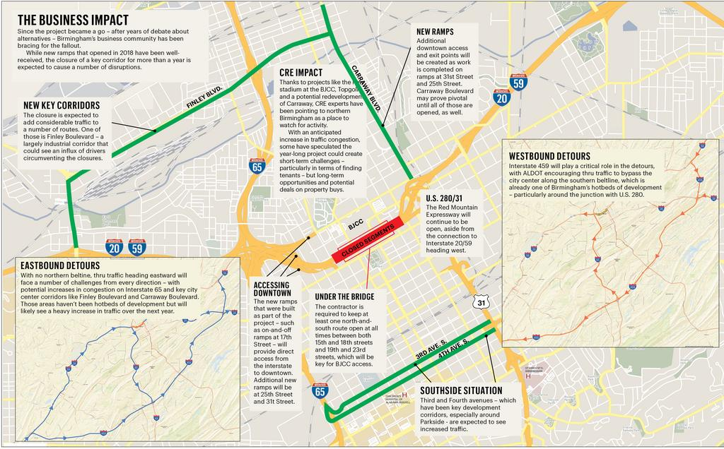 Effects of the I-59/20 bridge replacement - Birmingham ... on lincoln way map, interstate 27 map, interstate 26 map, interstate 30 map, interstate map of mississippi and alabama, interstate 85 map, interstate 10 map, interstate 80 map, interstate 422 map, interstate 44 map, interstate 25 map, interstate 526 map, interstate 75 map, new jersey route 1 map, interstate 70 map, interstate highway map, interstate 74 map, us highway 78 map,