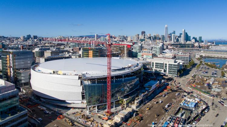 Construction of Golden State Warriors' Chase Center in its