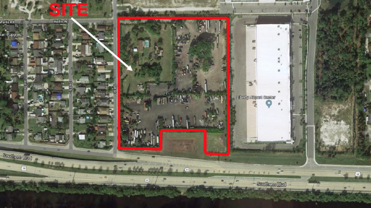 Airports In Southern Florida Map.Industrial Building Proposed West Of Palm Beach International
