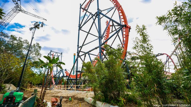 Tigris Being Built This Week At Busch Gardens Tampa Bay Video