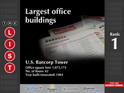 1: U.S. Bancorp Tower  The full list of the largest office buildings - including contact information - is available to PBJ subscribers.  Not a subscriber? Sign up for a free 4-week trial subscription to view this list and more today