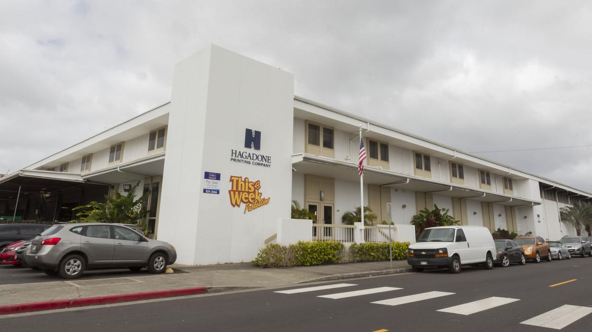 Oahu Auctions selling Hagadone Hawaii equipment, office supplies in