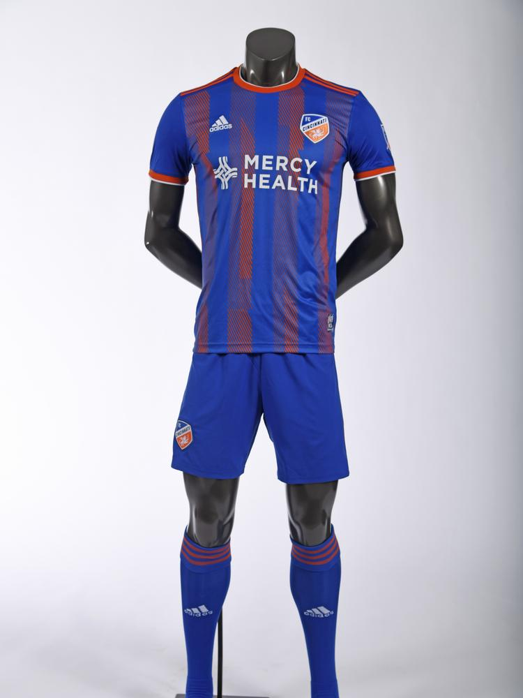 4a01aceff FC Cincinnati unveiled its new kits for Major League Soccer at an event on  Monday night