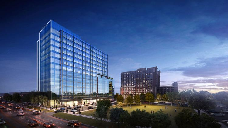 Stonelake Capital Partners broke ground on Park Place Tower, a 15-story, 210,000-square-foot office building designed by Beck Architecture.