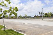 A parking lot at the USS Arizona Memorial at the World War II Valor in the Pacific National Monument at Pearl Harbor was deserted Tuesday after the federal government shutdown forced the closure of the nation's national parks.