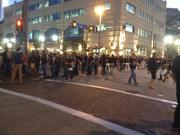 The crowds near PNC Park before game time.