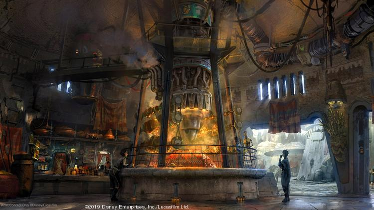 The new land will feature a series of new eateries all designed around the Black Spire Outpost's setting.