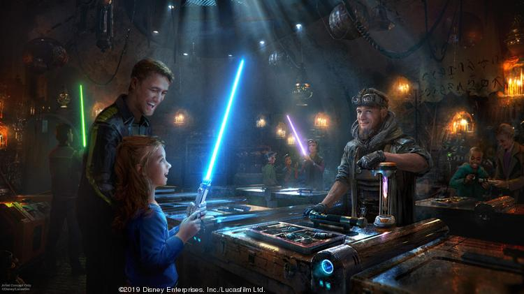 Every trip to a Star Wars land has to include a visit to get your own lightsaber.