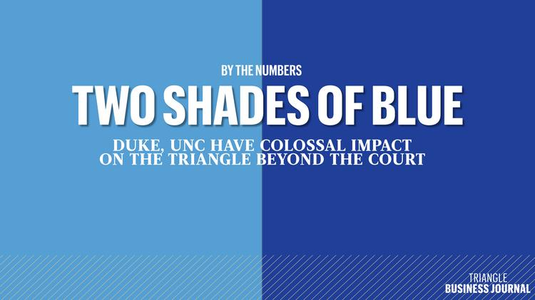 Duke, UNC have colossal impact on the Triangle beyond the
