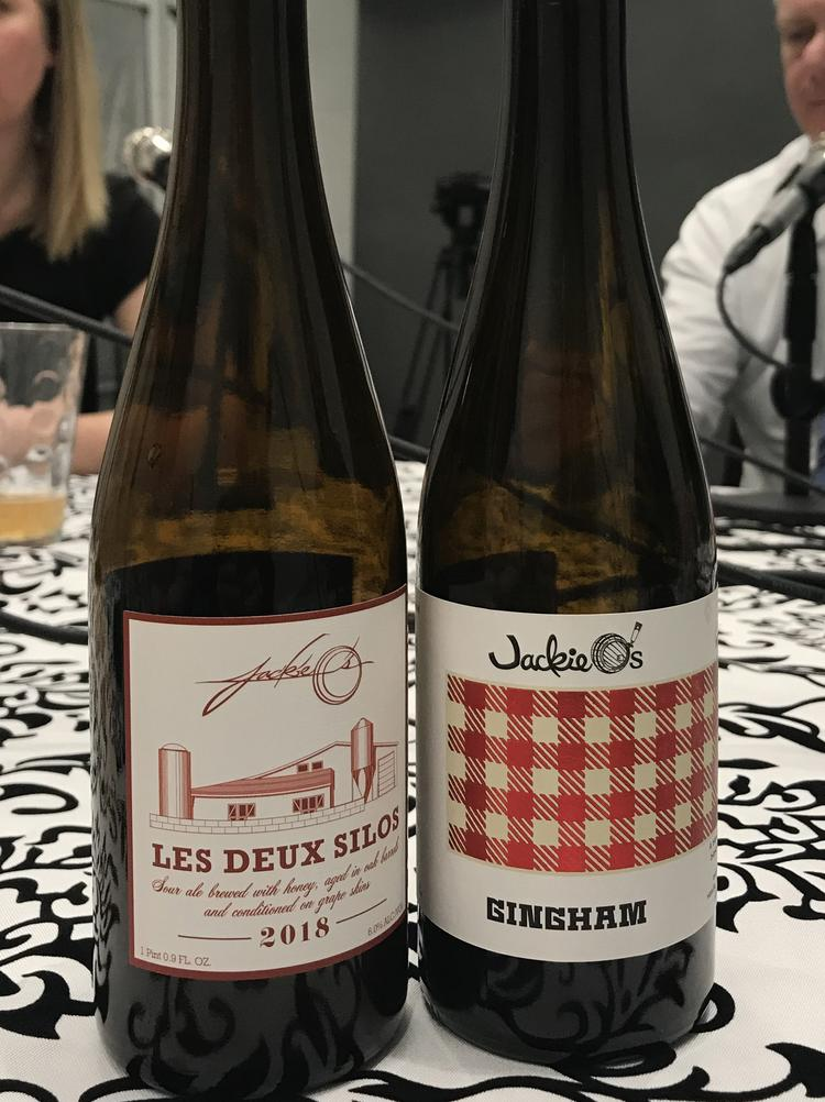 Two sour beers from Jackie Ou0027s in Athens: Les Deux Silos and Gingham.