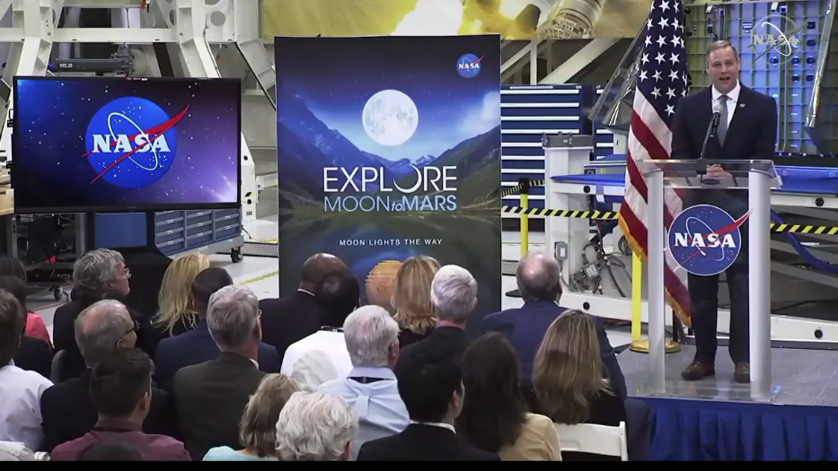 NASA leader shares plans for moon and Mars at Kennedy ...