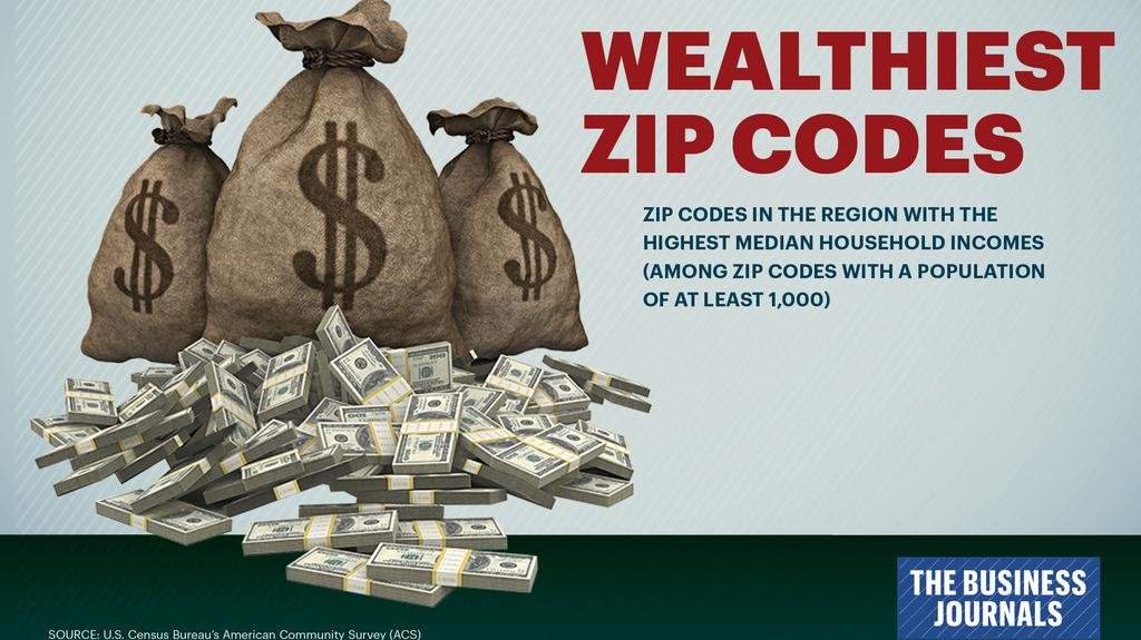 New data: Find out which ZIP Codes in the region are the wealthiest