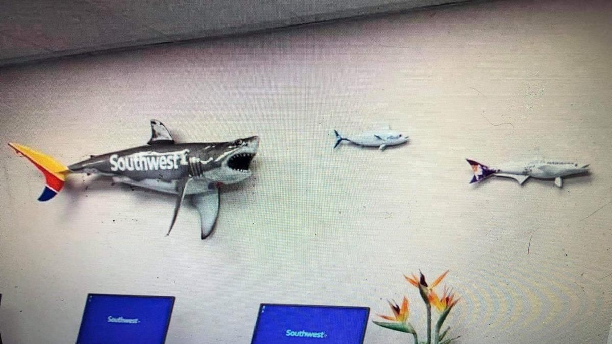 Southwest Airlines wall hangings give insight into