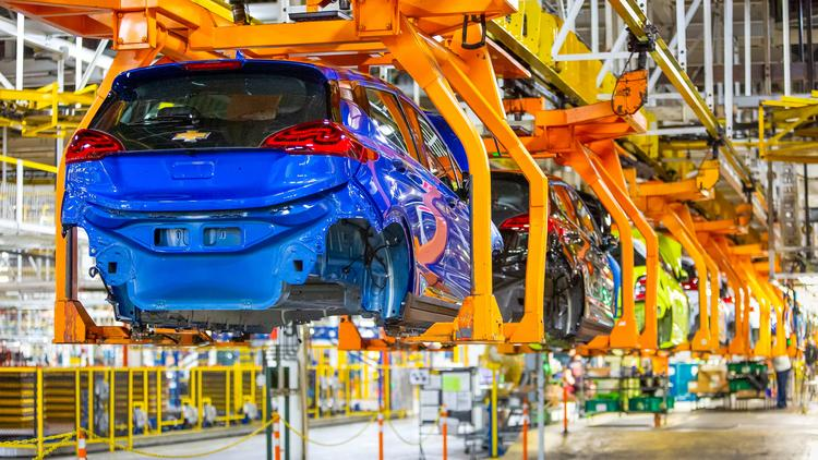 Chevrolet Bolt Ev Models Being Built At The General Motors Orion Plant In Township