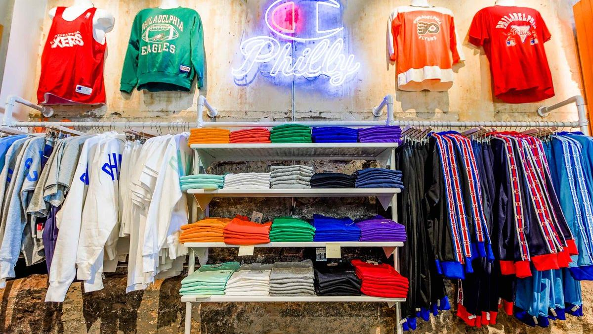 cff0864d5b Shoppers can customize athletic wear at new Champion store - Bizwomen