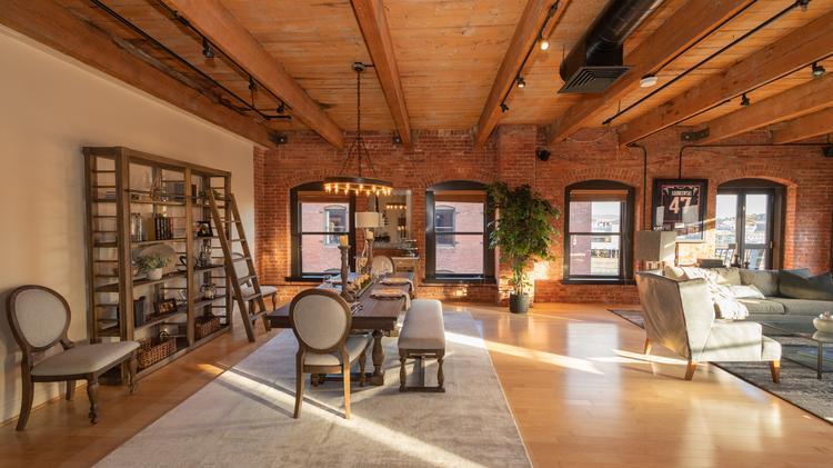 See Inside Gronkowski S 2 3m Fort Point Penthouse Loft