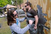 ... or maybe not. Tyler Barrington has 10 minutes to apply his engineering skills as he tries to attach his friend, John Gibison, to a wall using only duct tape.