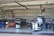 Much of the maintenance work on EagleMed's aircraft fleet is done at its Wichita headquarters.