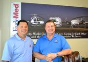 EagleMed's marketing director, Robbie Copeland, left, and president Larry Bugg, say the company's growth story will continue.