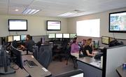 EagleMed's Wichita command center. From here, the company coordinates and tracks all its flights around the country.
