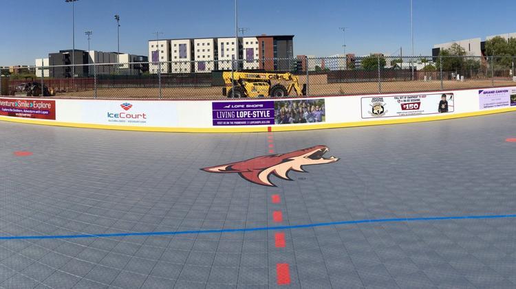 Arizona Coyotes build hockey rink at Grand Canyon University