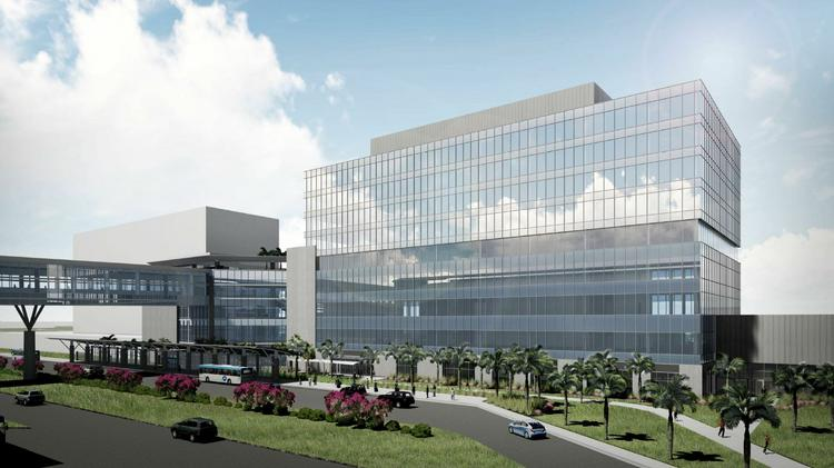 A rendering of the new office building in the works for Tampa International Airport
