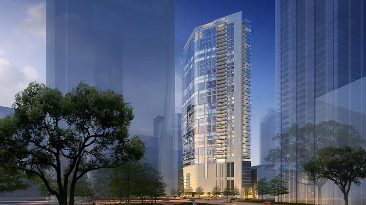 An Exterior Rendering Of The Preston From Market Square Park Hines Broke Ground April 4