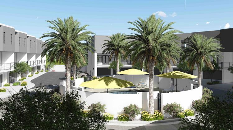 A rendering of Eclipse, a town home community Caliber is building in Scottsdale.