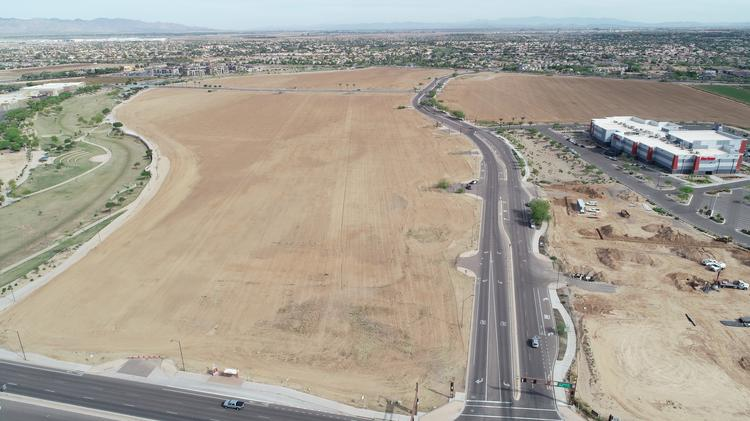 The city of Goodyear and Globe Corp. plan to partner to develop city facilities and a mixed-use business complex on land owned by Globe.