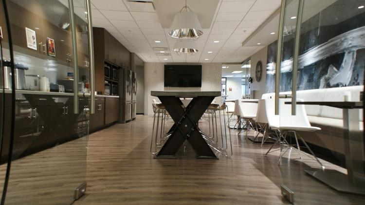 Cafe Inside Kisinger Campo U0026 Associatesu0027 Office